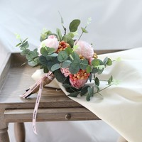 Wedding Bouquet Pink Rose and Berry Bridesmaid Bouquet