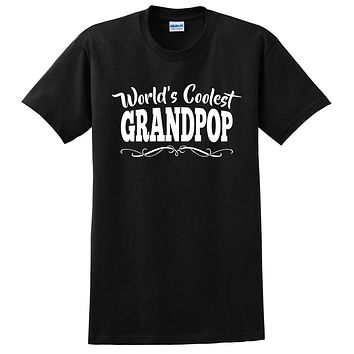 World's coolest grandpop Father's day birthday gift ideas for new grandpa proud grandfather gifts for him T Shirt