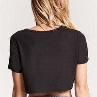 Raw-Cut Cropped Tee - Women - Tops - Tanks + Tees - 2000187882 - Forever 21 Canada English