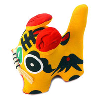 Chinese Style Cloth Tiger Home Decoration Table Decoration Gift Yellow