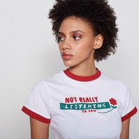 Lazy Oaf Not Really Listening T-shirt