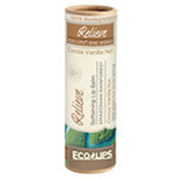 Eco Lips One World Eco Tube Lip Balms Relieve, Cocoa Vanilla Nut 0.30 oz. tubes