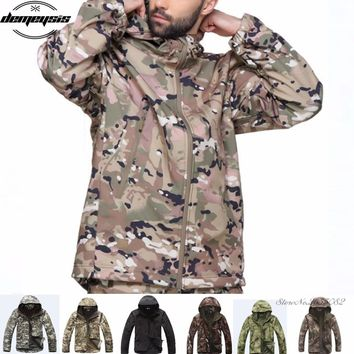 Waterproof Soft Shell Tactical Jacket Outdoor Hunting Sports Army Military Training Windproof Outerwear Coat Clothing