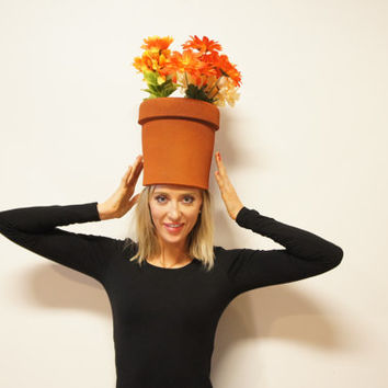 Pot Head - Funny Pun Adult Halloween Costume perfect as Women's Men's unique creative Haloween Costume Easy & simple fits all sizes