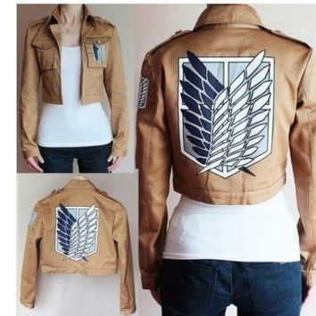 Cool Attack on Titan 2018  Jacket no  jacket Legion Cosplay Costume Jacket Coat Any Size High Quality Eren Levi AT_90_11
