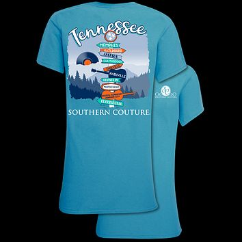 Southern Couture Classic Tennessee Signs T-Shirt