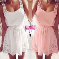 Fashion Sexy Casual Women Sleeveless Summer Dress