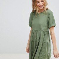 ASOS Cotton Smock Dress with Panels at asos.com
