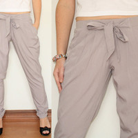 Harem Pants Loose Pants Trousers in Light Violet for by KSclothing