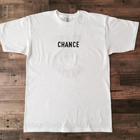 Chance the Rapper Tee Shirt 3 White Short Sleeve Chance the Rapper Tour Merch