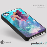 The Little mermaid Galaxy for iPhone 4/4S, iPhone 5/5S, iPhone 5c, iPhone 6, iPhone 6 Plus, iPod 4, iPod 5, Samsung Galaxy S3, Galaxy S4, Galaxy S5, Galaxy S6, Samsung Galaxy Note 3, Galaxy Note 4, Phone Case