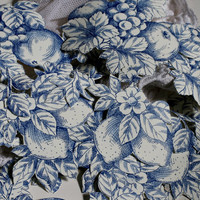35 Blue Flower Paper Cut Outs, China Blue Flowers.