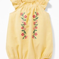 Flutter-Sleeve Bubble Romper for Baby |old-navy