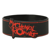 My Chemical Romance Lines Rubber Bracelet