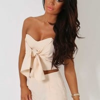 Yuna Nude Pocket Shorts with Back Zip   Pink Boutique