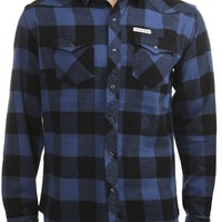 SAILOR JERRY BUFFALO FLANNEL NAVY - Button Downs - Shirts - Guys