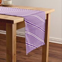 Purple Stripes Short Table Runner