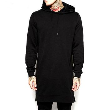 Men's Long Hooded Sweatshirts