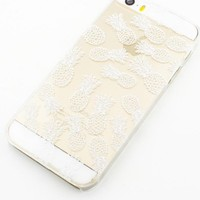 Plastic Case Cover for iPhone 5 5S 5C 6 6Plus (Pick One) Henna White Pineapple Overload summer psych fruit love hipster