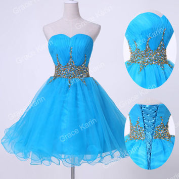 Sweetheart Sequins Homecoming Dresses Fashion Short Cocktail Prom Party Dress