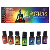 Chakras Essential Oils - Set of 7 - Concentrated Natural Oils for Massage, Reflection, Meditation, Environmental Scenting & Energy Work