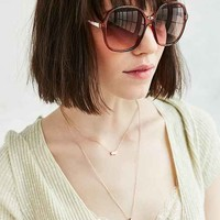 Raven Oversized Round Sunglasses