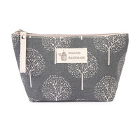 Tree Print Cosmetic Pouch