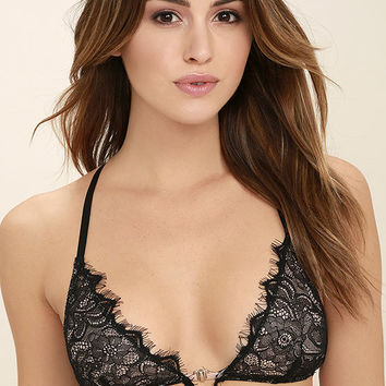 Unscripted Romance Black Lace Bralette