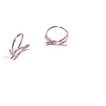 Tiny Rose Gold Hoops Earrings Rose Gold Open Hoops Small Hoop Earrings Eco Friendly Hammered Hoops Spring Jewelry Endless Hoops Gold Hoops