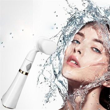 Pore Sonic Cleanser Electric 3D Vibration Fiber Brush Waterproof