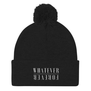 Whatever Forever Pom Pom Knit Cap