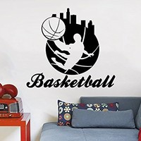 Wall Decals Basketball Player Sport Game Boy Room People Home Vinyl Decal Sticker Kids Nursery Baby Room Bedroom Decor C596