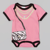 Pink Glamour Girl Bodysuit | zulily