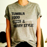 Tumblr food sleep and harry styles T-Shirt