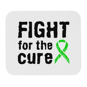 Fight for the Cure - Lime Green Ribbon Lyme Disease Mousepad