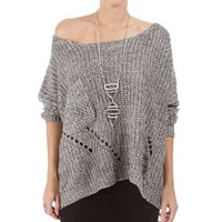 SALE-Gray Cozy Knit Sweater