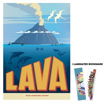 "Lava Short Animation Disney Pixar 13"" x 19"" Poster Flyer BORDERLESS + 1 Free Laminated Bookmark"