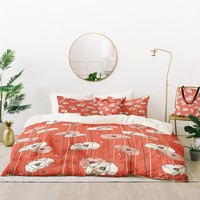 Heather Dutton Red Poppy Field 1 Bed In A Bag