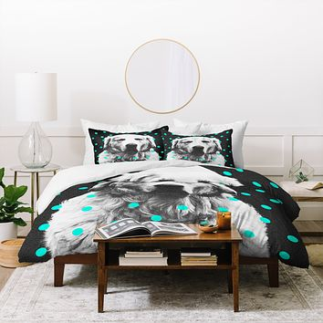 Elisabeth Fredriksson Sleepy Dog Duvet Cover