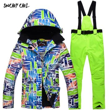 Outdoor Sports Ski Suit Women Windproof Waterproof Thermal Snowboard Snow Skiing Jacket Skiwear Ice Skating Clothes h280