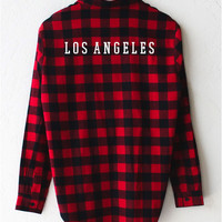 Los Angeles Oversized Plaid Flannel Shirt
