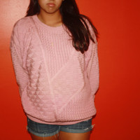 1980's pink ovesized sweater.