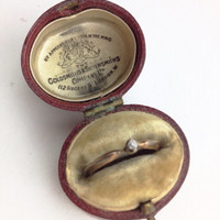 Antique Ring Box for Engagement or Wedding