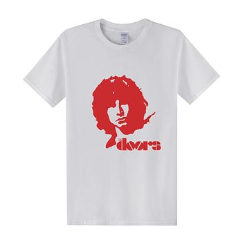 Door JIM MORRISON T Shirts Men Summer Casual Style T Shirts Cotton Short Sleeve O-neck T-shirts