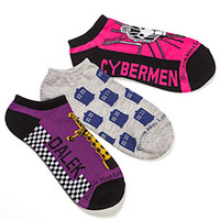 Ladies' Doctor Who Low-Cut Socks 3 pack