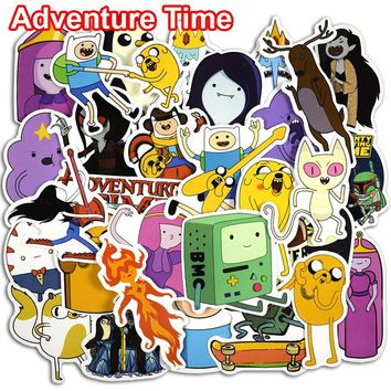 30 Pcs Adventure Time Cartoon Pvc Waterproof Sticker For Laptop Luggage Wall Car Bicycle Motorcycle Notebook Toys Stickers