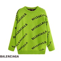Balenciaga hot seller of stylish casual printed couples' loose-fitting sweaters #1