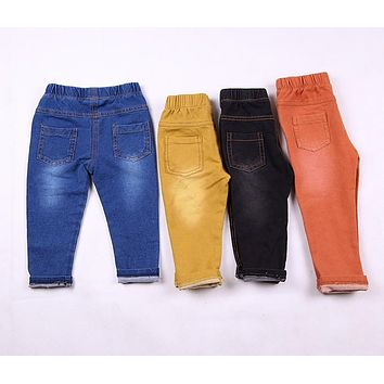 Kids Jeans Spring & Summer Style Fashion Denim Pants Cotton Trousers for Baby Boys & Girls