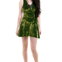 PRE-ORDER: Olive Juice Velvet Mini Dress