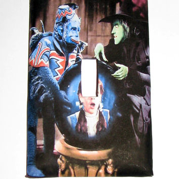 Light Switch Cover - Light Switch Plate Wizard of Oz Wicked Witch & Flying Monkey